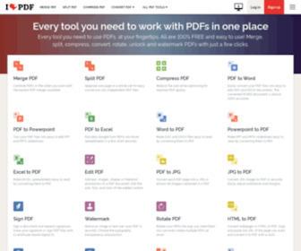 Ilovepdf.com - iLovePDF | Online PDF tools for PDF lovers