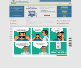 Incometaxindiaefiling.gov.in - e-Filing Home Page, Income Tax Department, Government of India