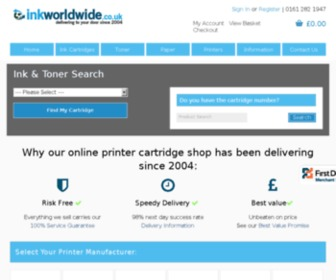 Inkworldwide.co.uk - Cheap Printer Ink and Toner Cartridges - Ink Worldwide