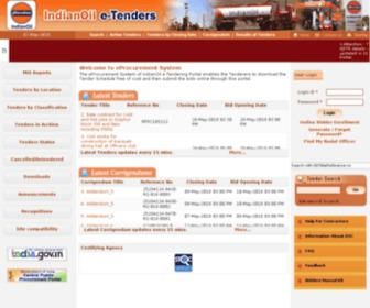 Iocletenders.gov.in - e-Procurement System - IOCL