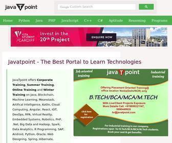Javatpoint.com - Tutorials - Javatpoint