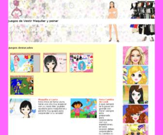 Juegosdevestirmaquillarypeinar.com - Juegos de Vestir Maquillar y peinar
