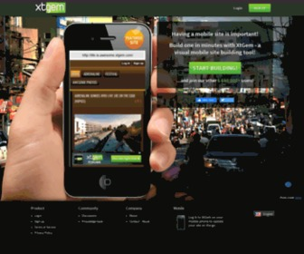 Jw.lt - XtGem.com —Visual mobile site building tool
