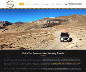 Kalkataxiservices.com - Kalka To Shimla-Manali Taxi Services - Mountain Way Travels