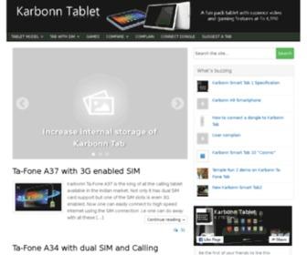 Karbonntablet.com - Karbonn tablet  Karbonn Smart Tab 1 price Specification Review Booking