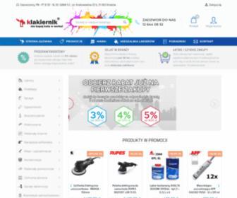 Klakiernik.pl - Lakiery samochodowe, mieszalnia lakierów, materiały lakiernicze - Klakiernik