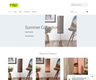 Kraftinn.com - Online Shopping in India - Table Lamps, Floor Lamps, Laundry Baskets - Buy Online from KraftInn