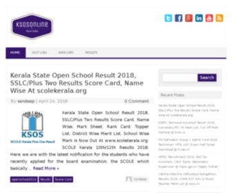 Ksosonline.in - Kerala State Open School Online Admission Suite