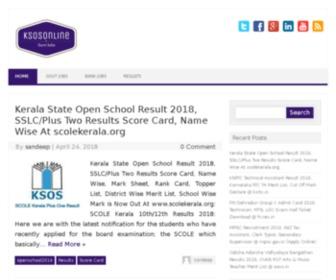 Ksosonline.in - Kerala State Open School Online Admission Suite