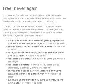 Ladirecta.com - Free, never again - Gratis nunca más