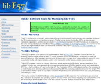 Libe57.org - libE57: Software Tools for Managing E57 files (ASTM E2807 standard)