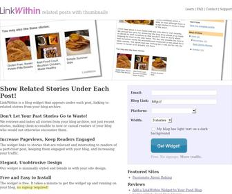 Linkwithin.com - LinkWithin - Related Posts with Thumbnails