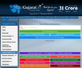 Marugujarat.in - :: MaruGujarat :: Official Site :: Maru gujarat :: મારું ગુજરાત , Gujarat Jobs, GPSC,UPSC,TET,TAT,BANK EXAMS,STUDY MATERIALS,DOWNLOADS,ONLINE TEST,TIPS,PLANNER,ALL RESULT AT ONE PLACE,GUJARAT PUBLIC SERVICE COMMISSION (GPSC),UNION PUBLIC COMMISSION (UPSC)