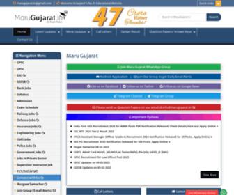 Marugujarat.in - :: MaruGujarat :: Official Site :: Gujarat's No. 1 Educational Website :: Maru gujarat :: મારું ગુજરાત , Gujarat Jobs, GPSC,UPSC,TET,TAT,BANK EXAMS,STUDY MATERIALS,DOWNLOADS,ONLINE TEST,TIPS,PLANNER,ALL RESULT AT ONE PLACE,GUJARAT PUBLIC SERVICE COMMISSIO
