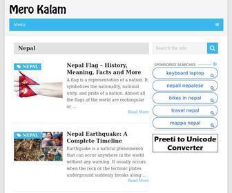 Merokalam.com - Mero Kalam - Preeti to Unicode, Unicode to Preeti