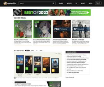 Metacritic.com - Metacritic - Movie Reviews, TV Reviews, Game Reviews, and Music Reviews