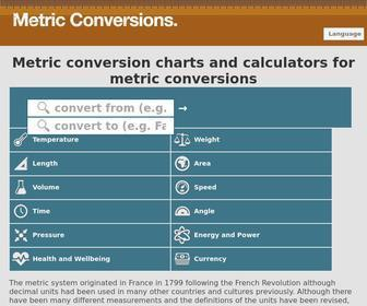 Metric-conversions.org - Metric Conversion charts and calculators