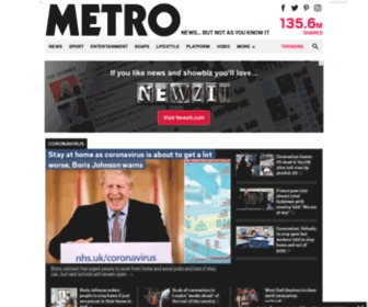 Metro.co.uk - Metro.co.uk: News, Sport, Showbiz, Celebrities from Metro