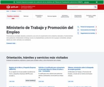 Mintra.gob.pe - Ministerio de Trabajo y Promoción del Empleo