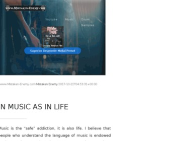 "Mistaken-enemy.com - Mistaken Enemy's Official Website... ""In Music As In Life"""