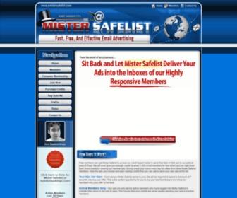 Mistersafelist.com - Mister Safelist - Free Safelist Advertising