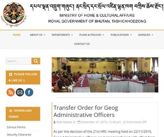 Mohca.gov.bt - Ministry of Home and Cultural Affairs – Royal Government of Bhutan