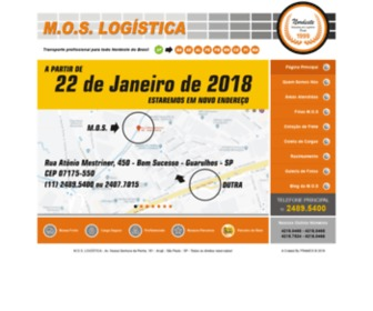 Moslogistica.com.br - M.O.S Logistica - Transporte Profissional