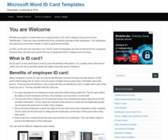 Microsoft Word Id Card Templates Mswordidcards Com At Statscrop