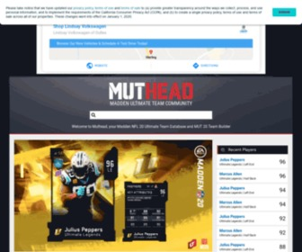 Muthead.com - Madden NFL 19 Ultimate Team Database - Muthead