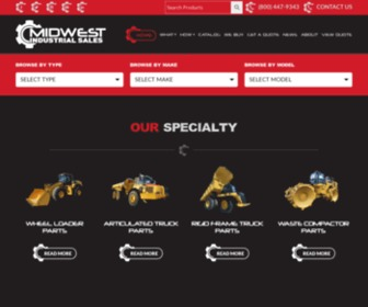 Mwisales.com - Midwest Industrial Sales - Caterpillar, Terex, Volvo, and Euclid parts