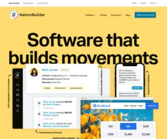 Nationbuilder.com - NationBuilder: Turn your life into a movement