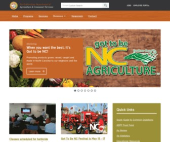 Ncagr.gov - N.C. Department of Agriculture and Consumer Services - Touching your life every day.