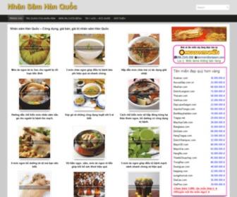 Nhansamhanquoc.com - Nhân sâm Hàn Quốc - Công dụng, giá bán, giá trị nhân sâm Hàn Quốc