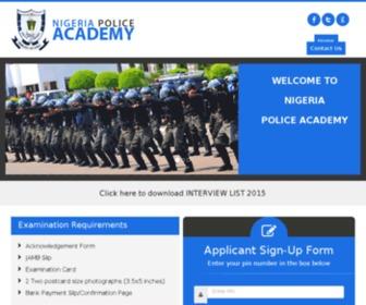 Nigpoliceacademy.org - Nigeria | Police Academy