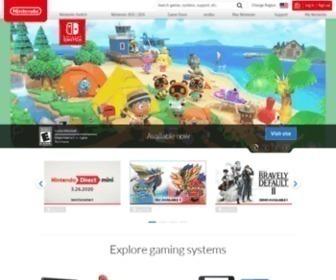 Nintendo.com - Country Selector at Nintendo