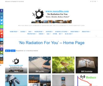 Norad4u.com - No Radiation (ELF/RF EMF/EMR) For You (EHS)