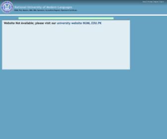 Numl.info - NUML : National University of Modern Languages, Islamabad
