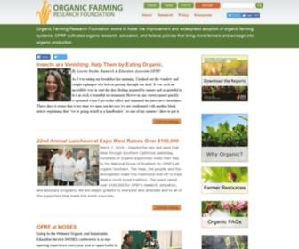 Ofrf.org - Organic Farming Research Foundation
