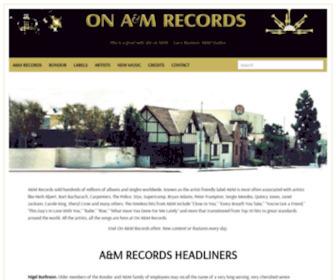 Onamrecords.com - On A&M Records.com : A&M Records: A&M Studios : Herb Alpert : Jerry Moss : Rondor Music