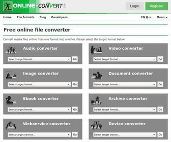 Online-convert.com - Online converter - convert video, images, audio and documents for free