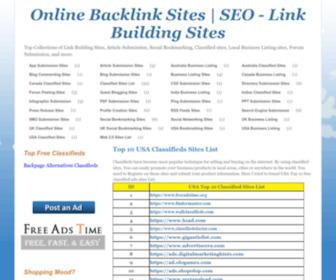 Onlinebacklinksites.com - Online Backlink Sites | SEO - Link Building Sites