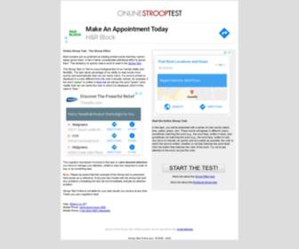 Onlinestrooptest.com - Online Stroop Test - The Stroop Effect