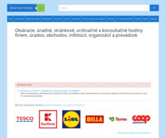 Otvaracie-hodiny.sk - Otvaracie-hodiny.sk | Otváracie, úradné a stránkové hodiny