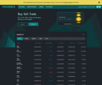 Poloniex.com - Poloniex - Bitcoin/Digital Asset Exchange