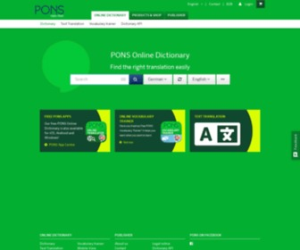 Pons.com - PONS - The free dictionary for foreign languages, German spelling and full-text translations.
