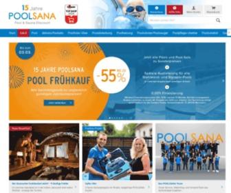 Poolsana.de - Poolsana - Pool- und Sauna-Discount. Schwimmbecken, Saunen, Infrarotkabinen und Wellnessprodukte online bestellen.
