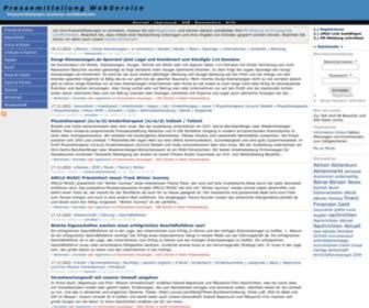 Pressemitteilung.ws - Pressemitteilung WS | Presseportal - Kostenlos Pressemitteilung schreiben