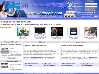 Pubdirecte.com - Pubdirecte - Régie publicitaire internet au cpm, au cpc et à la vente