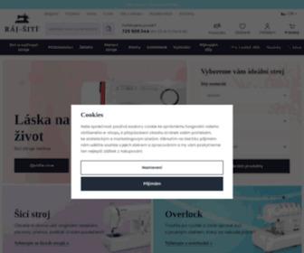 Raj-siti.cz - Šicí stroje, vyšívací stroje a overlocky z Ráje šití
