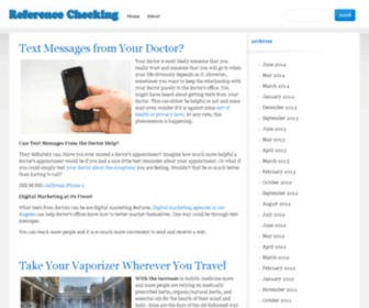 Reference-checking.com - Medical Dictionary ~ Medical Questions & Medical Symptoms - Alternative Medicine, Medical Insurance, Medical Supplies, Medical Terms & Terminology